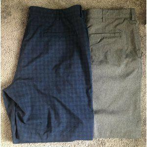 "2 PGA Tour Golf Shorts Grey And Blue Checked. 42"""